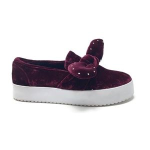 Rebecca Minkoff Stacey Bow Platform Sneaker Size 6